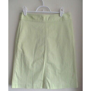 BANANA REPUBLIC Light Lime Green Skirt, sz 2